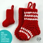 Little Christmas Stockings Free Pattern 2 sizes oombawkadesigncrochet.com