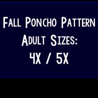 Fall Poncho Pattern – Women's Sizes 4X and 5X