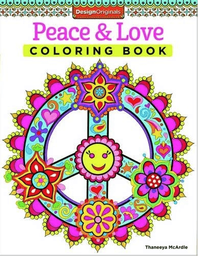Peace and Love Coloring Book