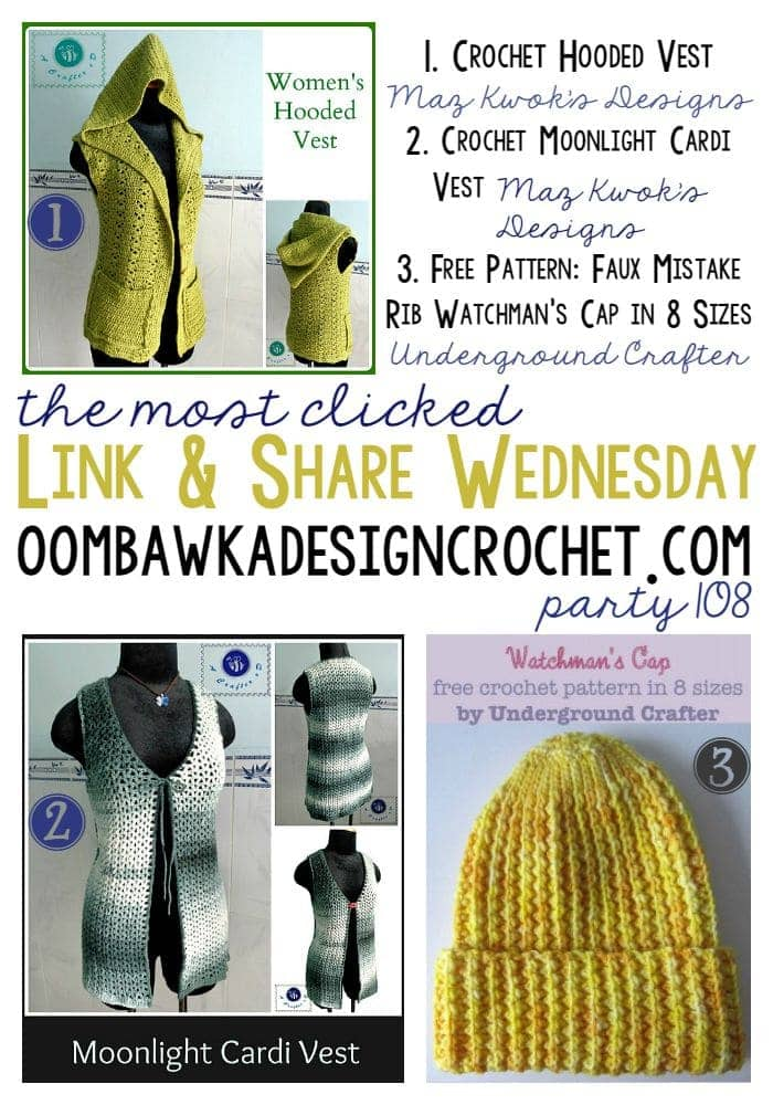 The Most Clicked Link Party 108 | oombawkadesigncrochet.com