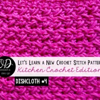 Very Basic Dishcloth – Kitchen Crochet Pattern