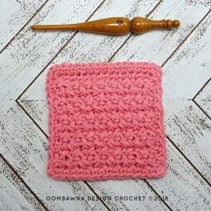 Very Basic Dishcloth Pattern. Free Pattern in 4 Sizes