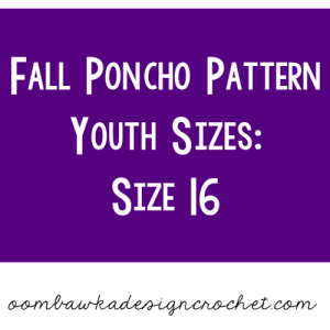 Fall Poncho Pattern Youth Size 16