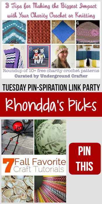 Rhondda's Picks | 3 Tips for Making the Biggest Impact with Your Charity Crochet or Knitting/7 Fall Favorite Craft Tutorials | Tuesday PIN-spiration Link Party www.thestitchinmommy.com