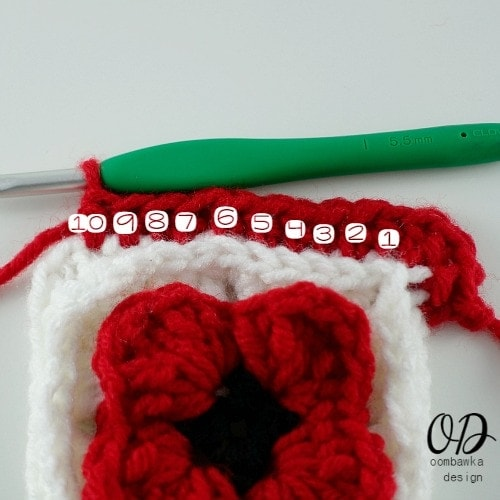 10 hdc Lest We Forget Square | Free Pattern | Oombawka Design Crochet