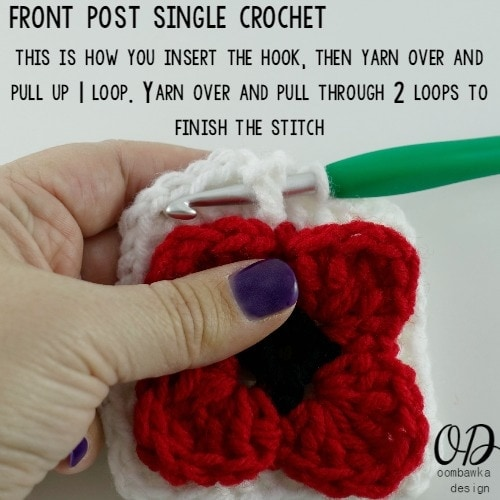 11 Lest We Forget Square | Free Pattern | Oombawka Design Crochet