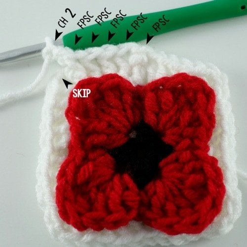 14 Lest We Forget Square | Free Pattern | Oombawka Design Crochet