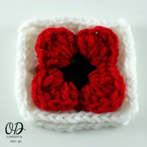 15 Lest We Forget Square | Free Pattern | Oombawka Design Crochet