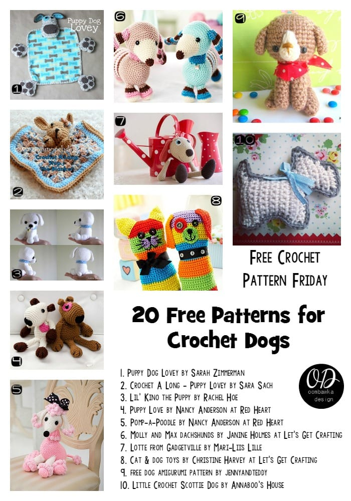 20 Free Patterns For Crochet Dogs Oombawka Design Crochet
