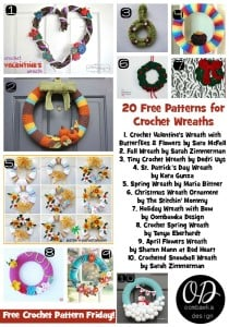 20 Free Patterns for Crochet Wreaths