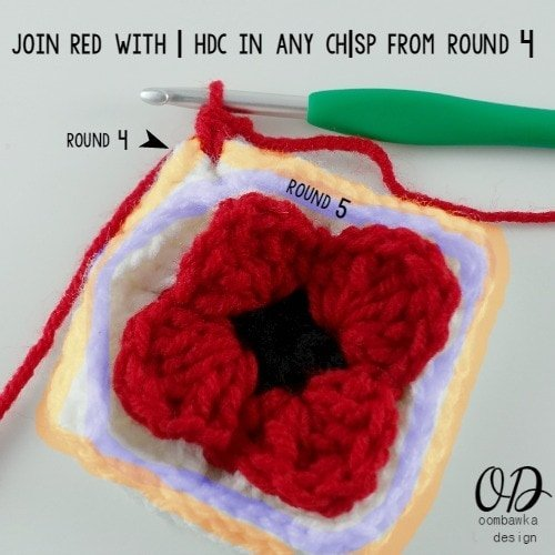 16 Lest We Forget Square | Free Pattern | Oombawka Design Crochet