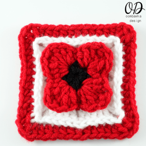 24 Lest We Forget Square | Free Pattern | Oombawka Design Crochet