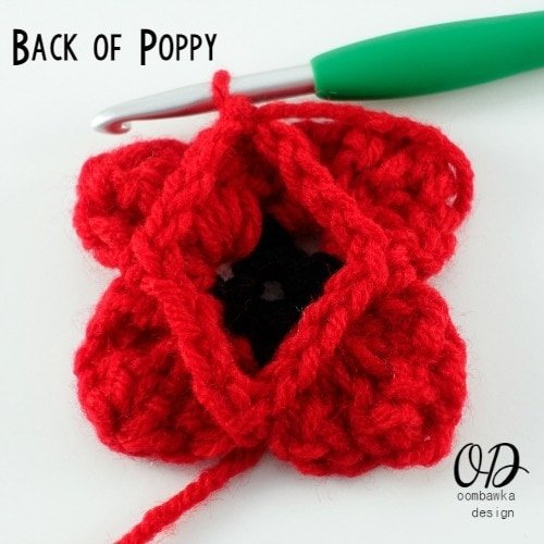 Lest We Forget Poppy Afghan Square Free Pattern Oombawka Design