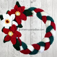 Braided Christmas Wreath by Maria Bittner