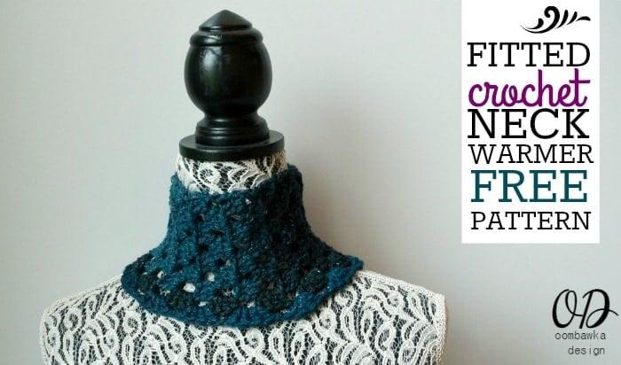 Fitted Crochet Neck Warmer Free Pattern Oombawka Design Crochet