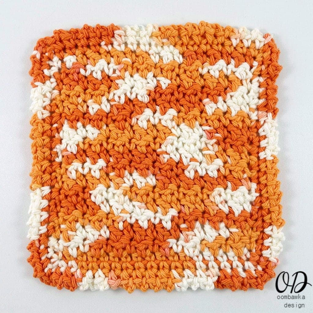 Free Pattern Up and Down Dishcloth Free Pattern with Tutorial