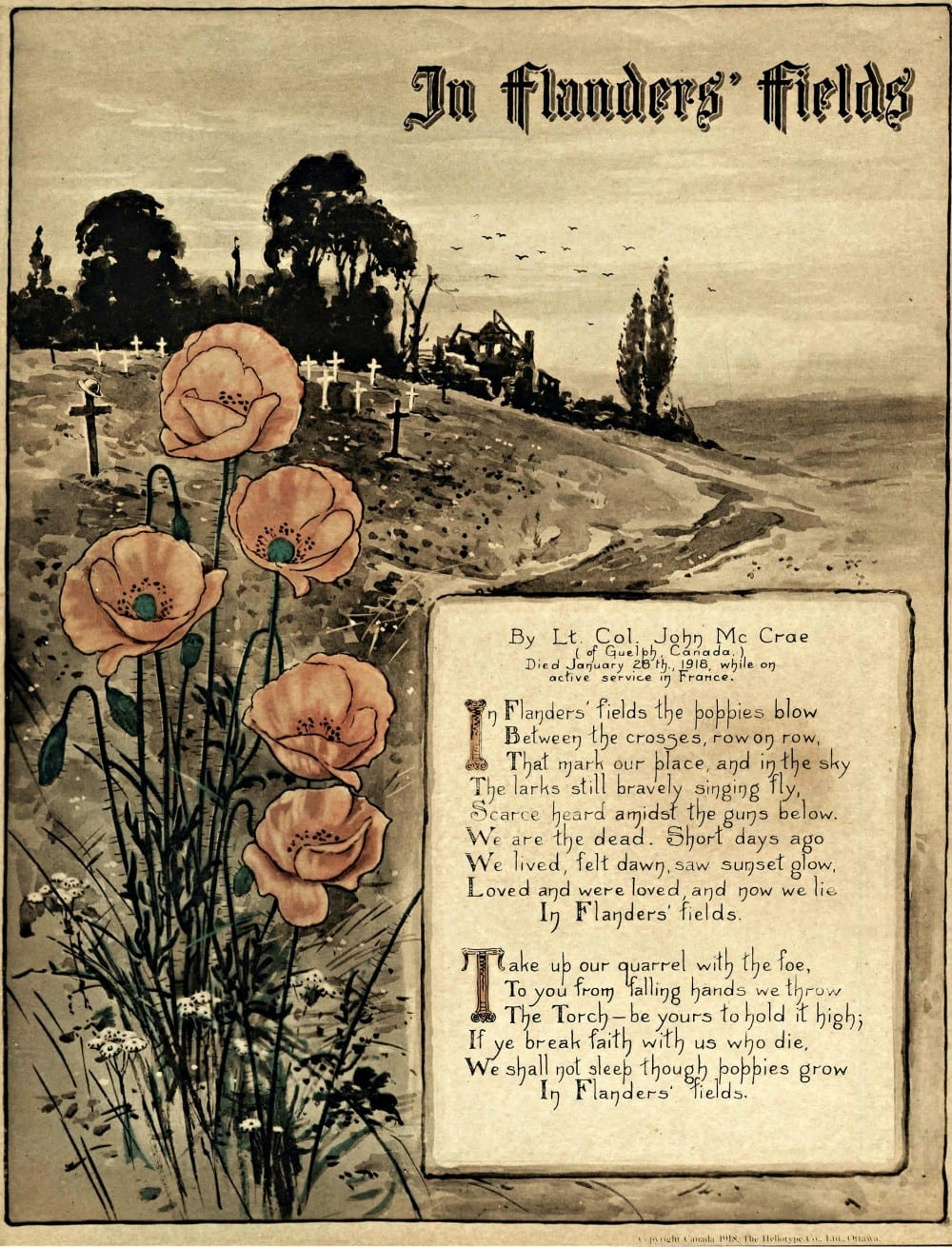 In Flanders' Fields, 1918