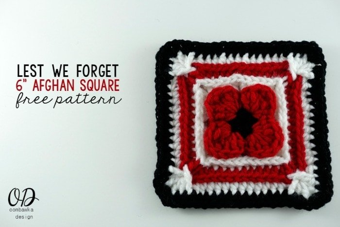 Cover | Lest We Forget Square | Free Pattern | Oombawka Design Crochet