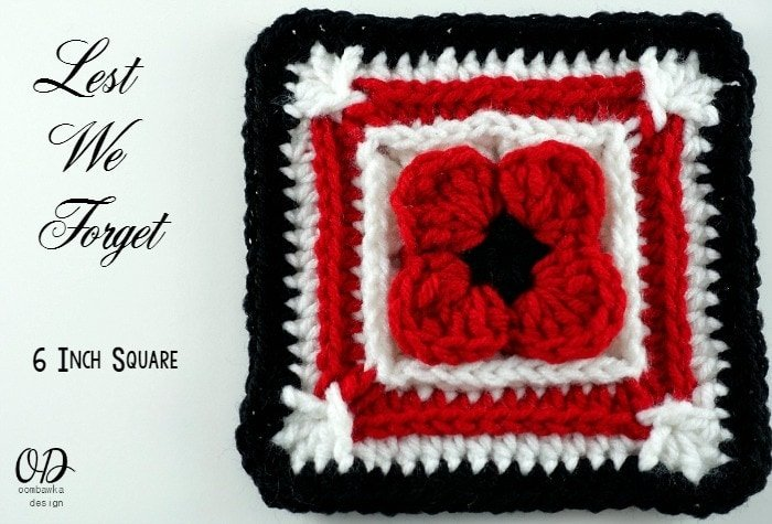 1 Lest We Forget Square | Free Pattern | Oombawka Design Crochet
