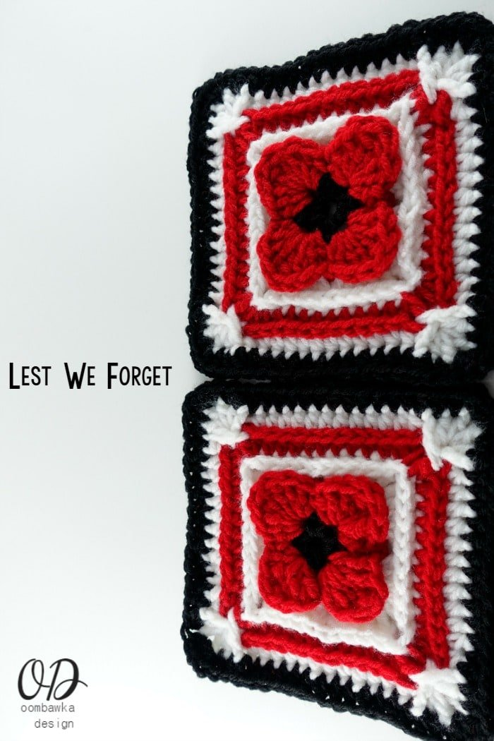 2 Lest We Forget Square | Free Pattern | Oombawka Design Crochet