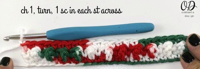 R3 Very Merry Scrubby Dishcloth - Free Crochet Pattern and Tutorial