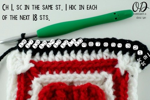 R8 2   Lest We Forget Square   Free Pattern   Oombawka Design Crochet