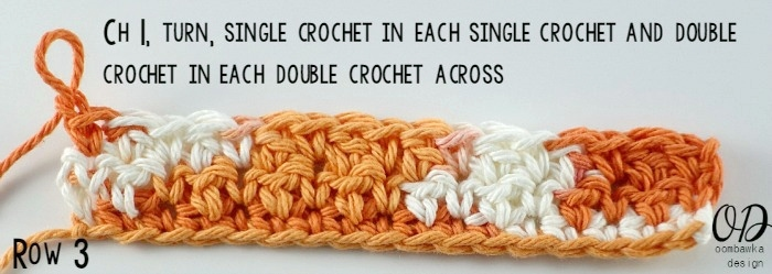Row-3 Up and Down Dishcloth Free Pattern with Tutorial
