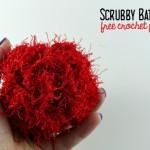 Scrubby Bath Pouf | Free Pattern | Oombawka Design Crochet