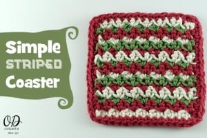 Simple Striped Coasters Free Pattern