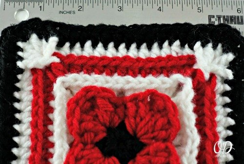 Size | Lest We Forget Square | Free Pattern | Oombawka Design Crochet