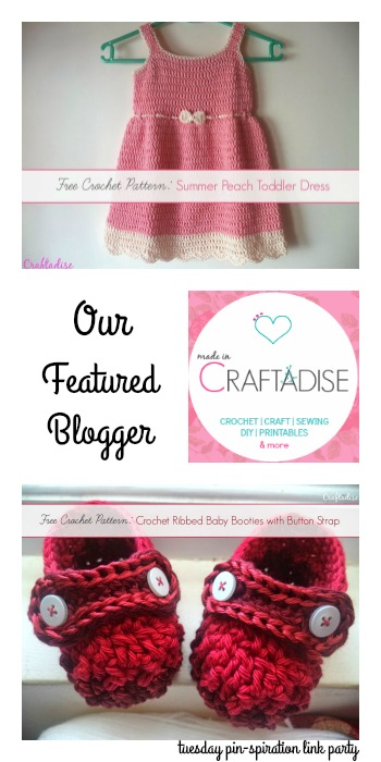 Tuesday PIN spiration Link Party Featured Blogger Made in Craftadise