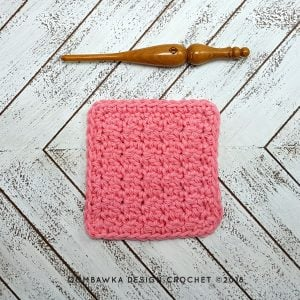 Up and Down Dishcloth Free Pattern Oombawka Design Crochet