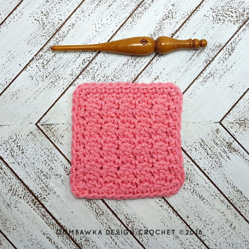 Up and Down Dishcloth Free Pattern Oombawka Design Crochet