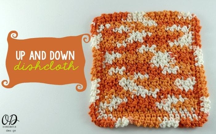 Up and Down Dishcloth   Kitchen Crochet   oombawkadesigncrochet.com