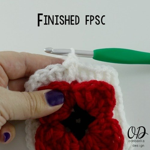 fpsc done Lest We Forget Square | Free Pattern | Oombawka Design Crochet