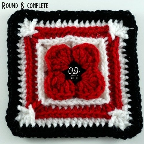R8 Complete | Lest We Forget Square | Free Pattern | Oombawka Design Crochet