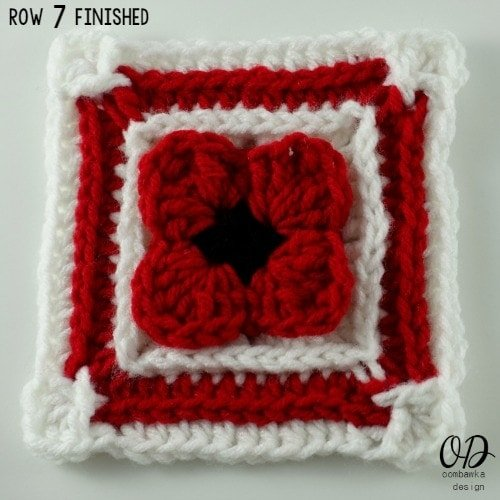 Row 7 | Lest We Forget Square | Free Pattern | Oombawka Design Crochet
