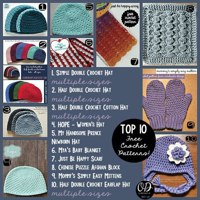 Top 10 Free Crochet Patterns Oombawka Design Crochet