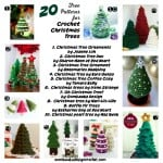 A Round Up 20 Free Patterns for Crochet Christmas Trees
