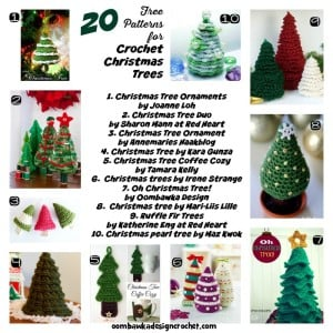 20 Free Patterns for Crochet Christmas Trees