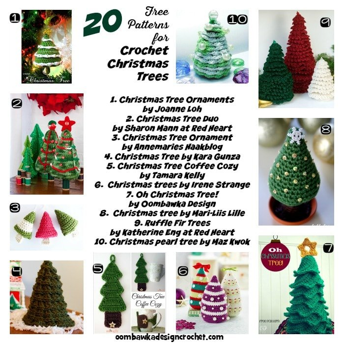 20 Free Patterns for Crochet Christmas Trees Oombawka ...