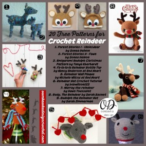 Roundup 20 Free Patterns for Crochet Reindeer