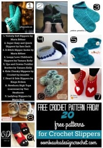 20 Free Patterns for Crochet Slippers