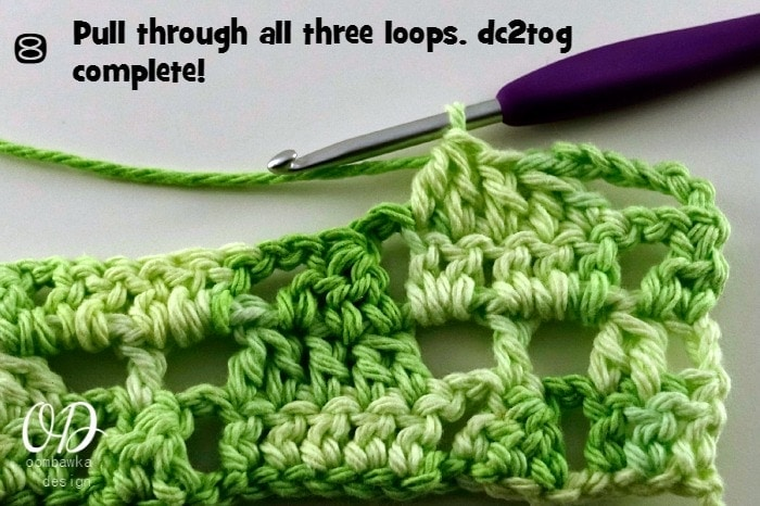 Crochet Stitches Dc3tog : Dc2tog and dc3tog Crochet Tutorial ? Oombawka Design Crochet