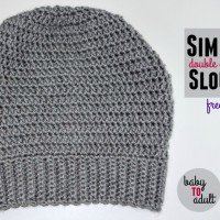 Simple Double Crochet Slouch Hat | Sizes Preemie to Adult | Free Pattern