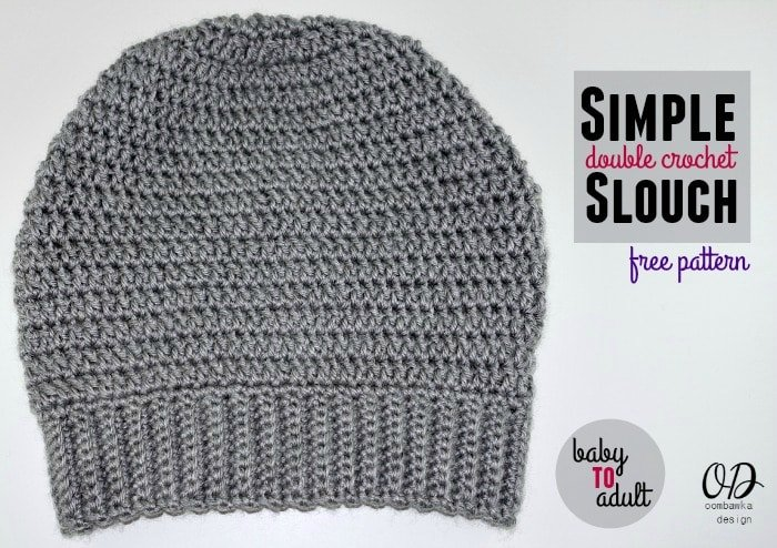 Simple Double Crochet Slouch Hat Pattern Oombawka Design Crochet