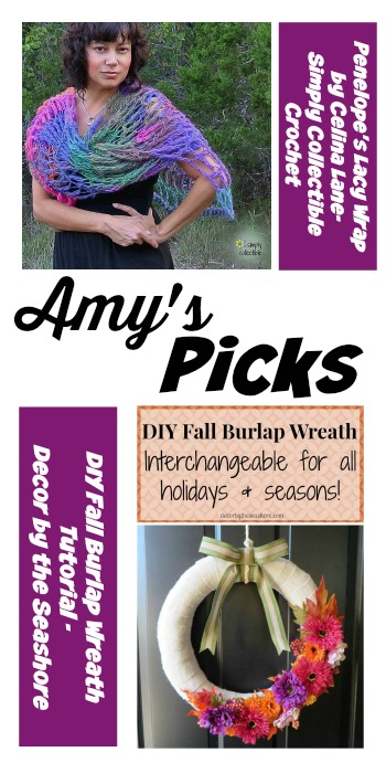 Tuesday PINSPIRATION Link Party |AmysPicks PenelopesLacyWrap DIYFallBurlapWreath