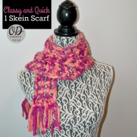 Classy and Quick 1 Skein Scarf | Free Pattern #MixologyYarns