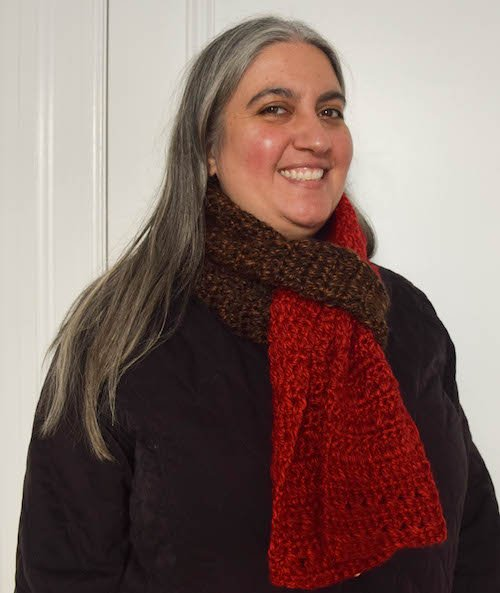 Guest Contributor Post - Charity - Color Blocked Co-Ed Scarf free crochet pattern by Marie Segares 2