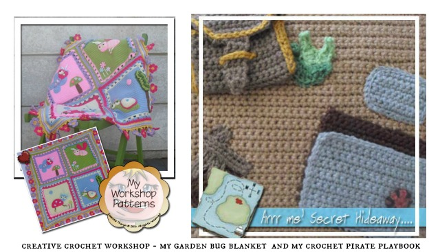 Designer Spotlight Creative Crochet Workshop - My Garden Bug Blanket and My Crochet Pirate Playbook Free Patterns